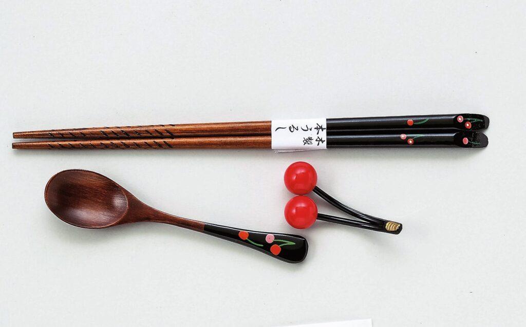 会津塗工芸 箸スプーンセット